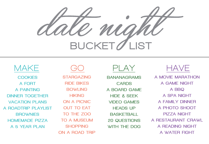 dating couple bucket list Every couple, whether you've only been dating for a few months, or you've been together for years, should have a couples bucket list of fun and exciting things they want to do together we're not talking about boring stuff, saving to buy a house, getting a mortgage, or settling down.